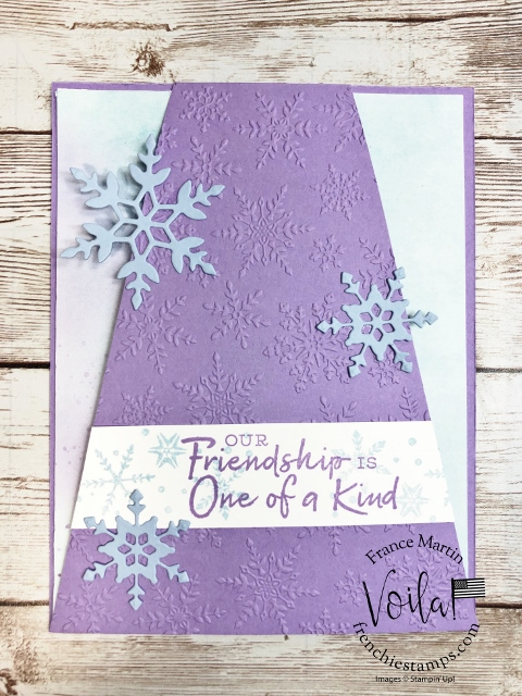 Skylight Diagonal Fun Fold and Snowflake Wishes Stamp Set
