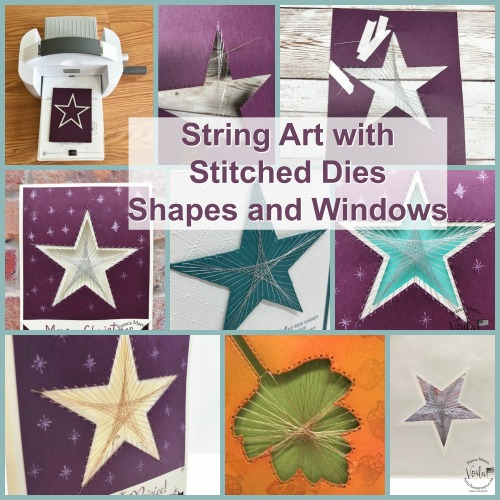 String Art with Stitched Star Dies.