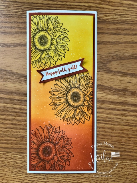 Slim Ombre card with Celebrate Sunflowers.