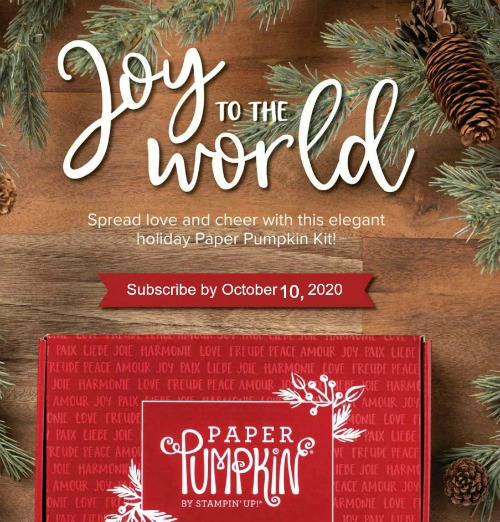 Joy to the World Paper Pumpkin October