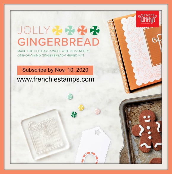 November 2020 Paper Pumpkin Jolly Gingerbread Kit.