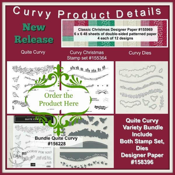 Curvy Die and Stamp set Curvy Christmas and Quite Curvy