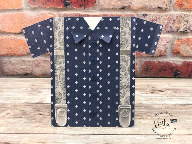 Short sleeve shirt card with the Suit and Tie Dies.