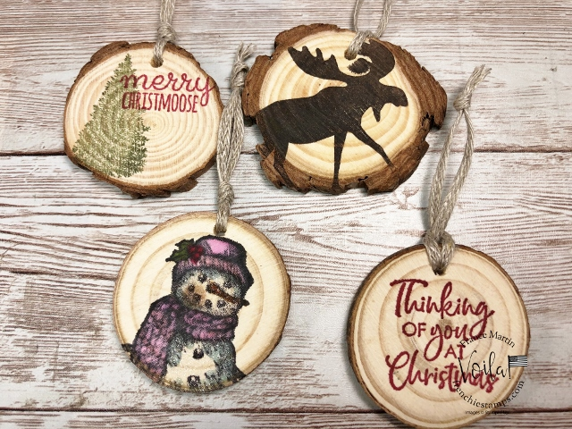 Wood Disc to stamp on for Christmas Tag or Christmas Ornaments.
