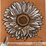 How to Stamp and Color On Color Velveteen Paper