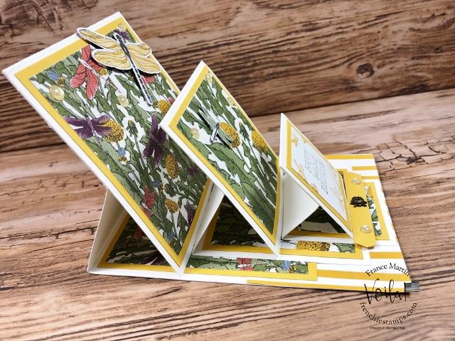 Triple Easel Card showcase the Dandy Garden Designer Paper.