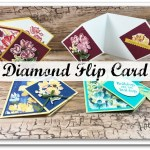 Diamond Flip Card, stamp set Art Gallery.
