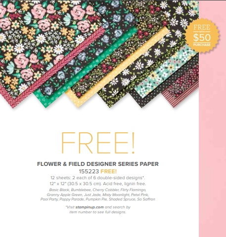 Flower and Field Designer Paper