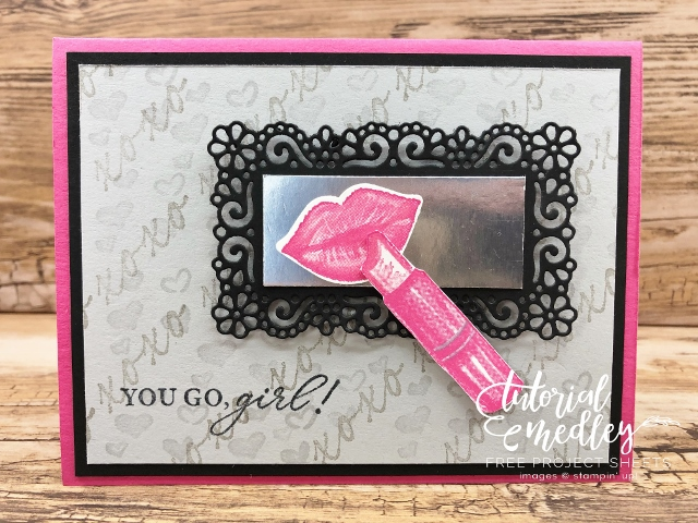 Heart and Kisses Stamp set with Ornate Frame Dies.