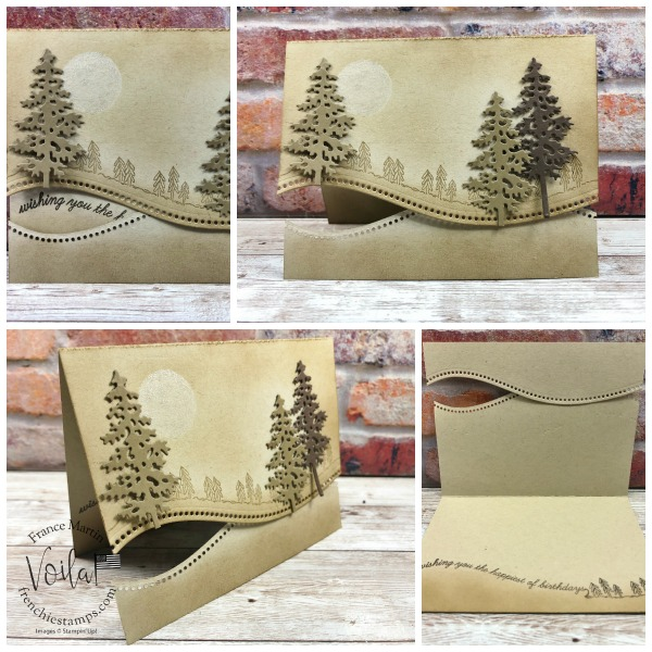 Vintage quite Curvy and In The Pines cards.