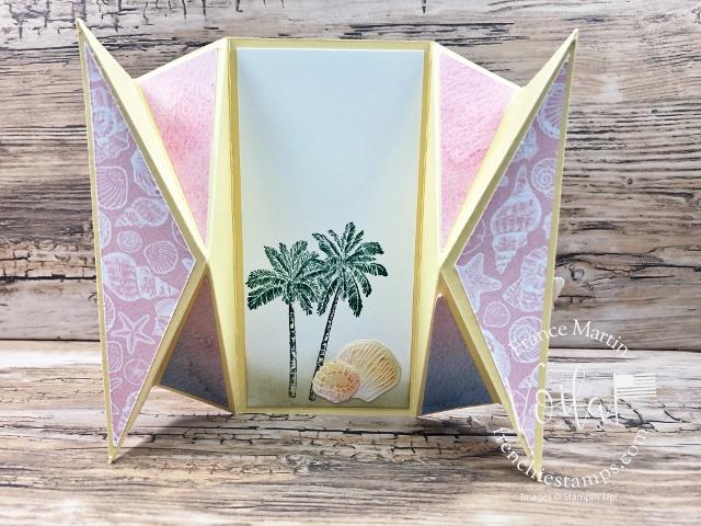 Double Fan Fold Card small size.