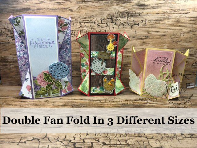 Double Fan Fold Card in 3 different sizes.