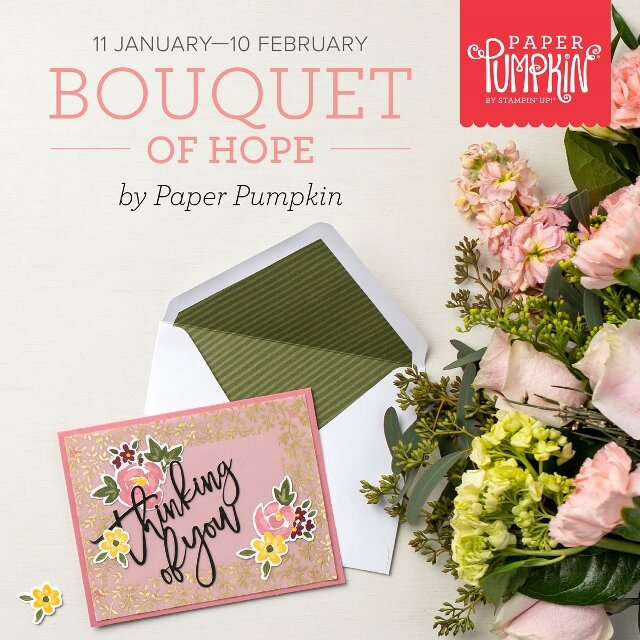 Bouquet Of Hope Paper Pumpkin February 2021.