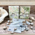 Watercolor with Seaside Seashells Dies, Seashells 3D embossing Folder.