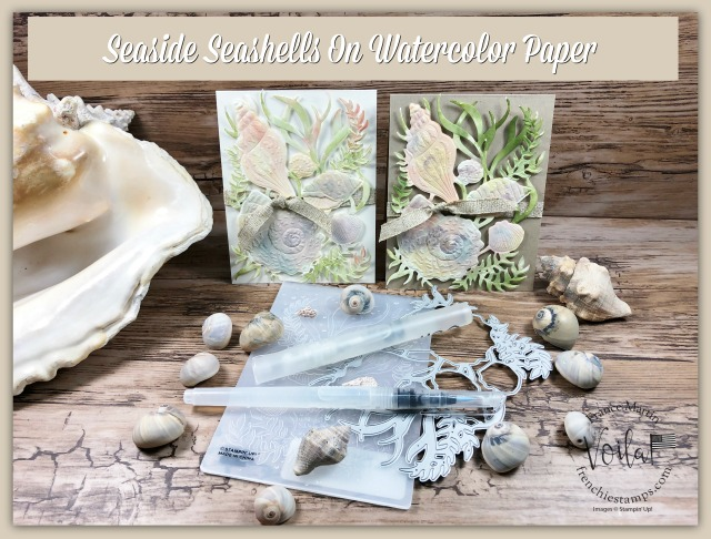 Watercolor With Seaside Seashells