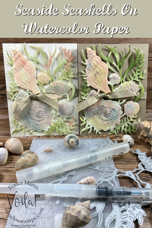 Watercolor With Seaside Seashells
