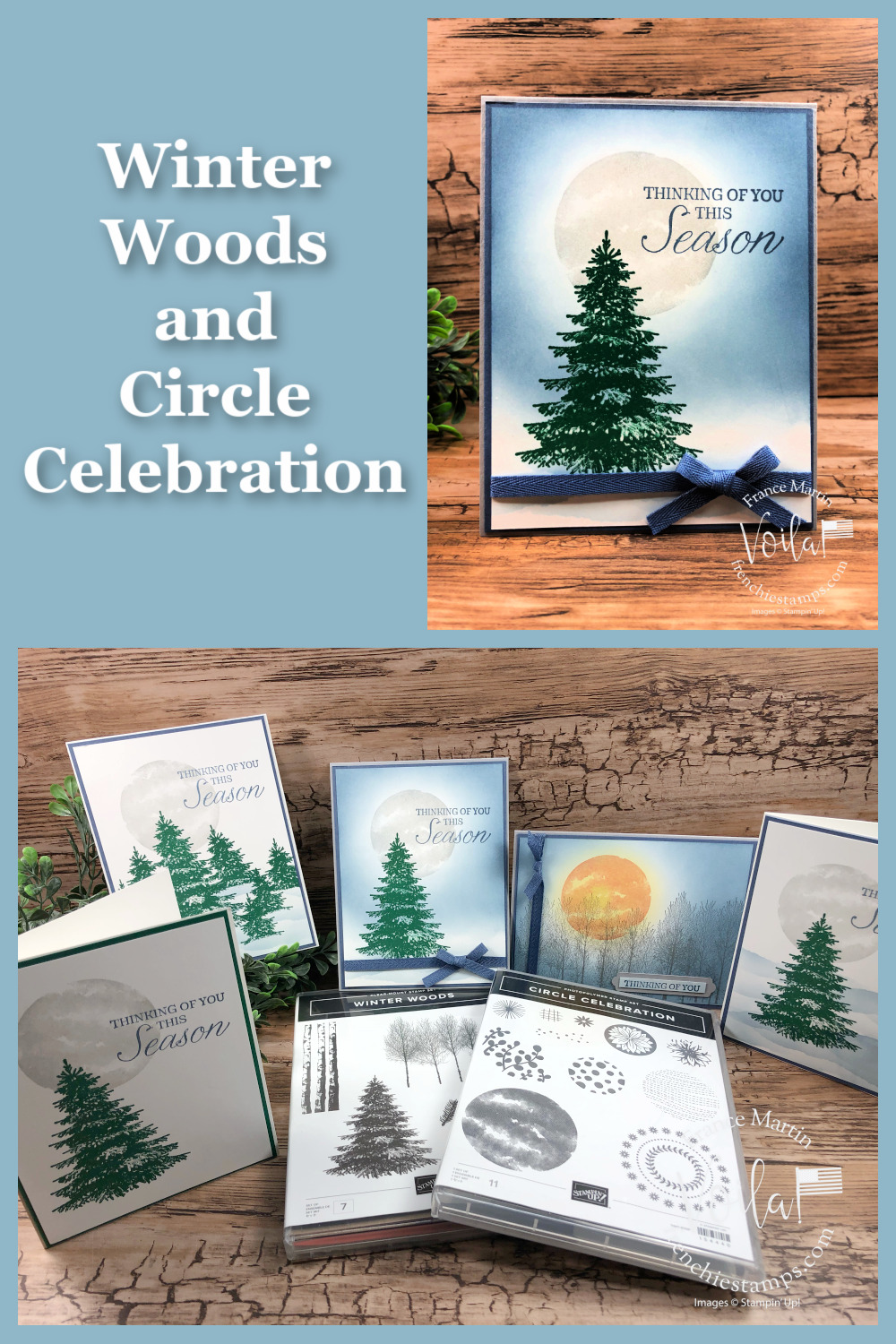 Scenery With Winter Woods and Circle Celebration