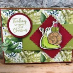 Snail It for Christmas Buckle Card.