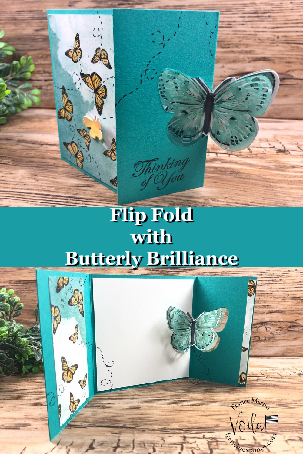 Flap Fold Card With Butterfly Brilliance