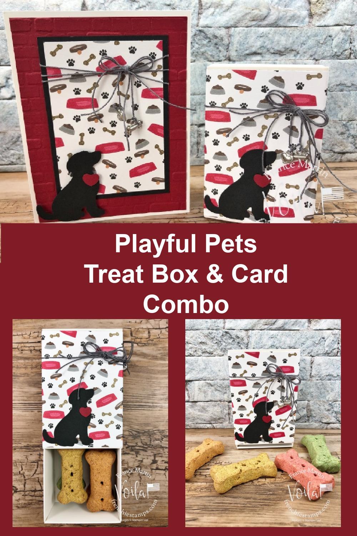 Playful Pets Treat Box And Card Combo