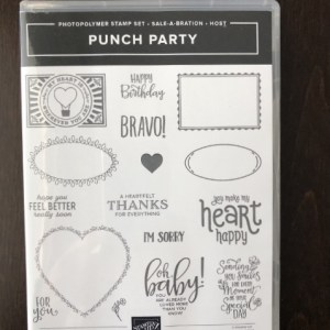 Punch Party Stamp Set  16 Photopolymer Stamps