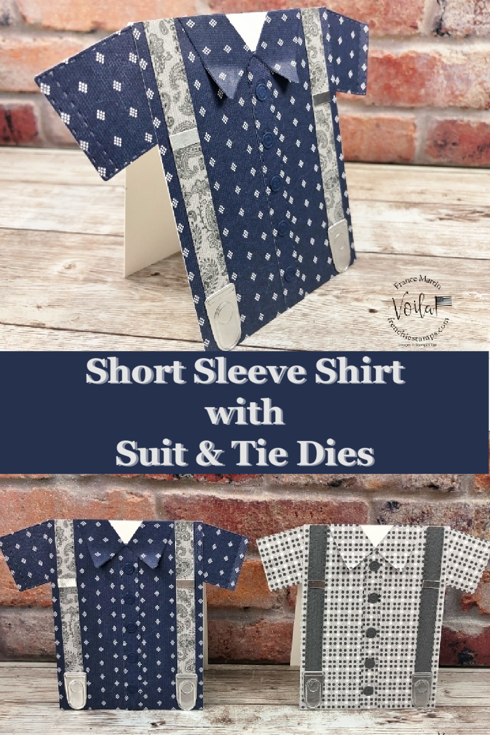 Shirt Card With Suit and Tie Dies