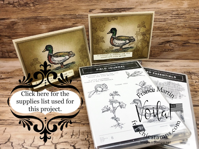 Wood Duck Card with the Field Journal Stamp Set and Watercolor Pencils without Water