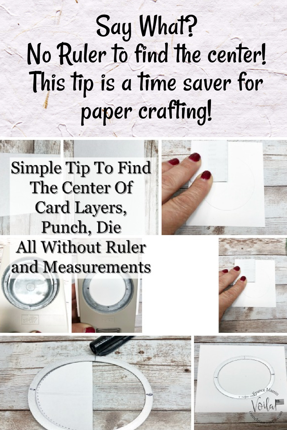 Great Tip To Find The Center Of Shapes and Cards Without A Ruler