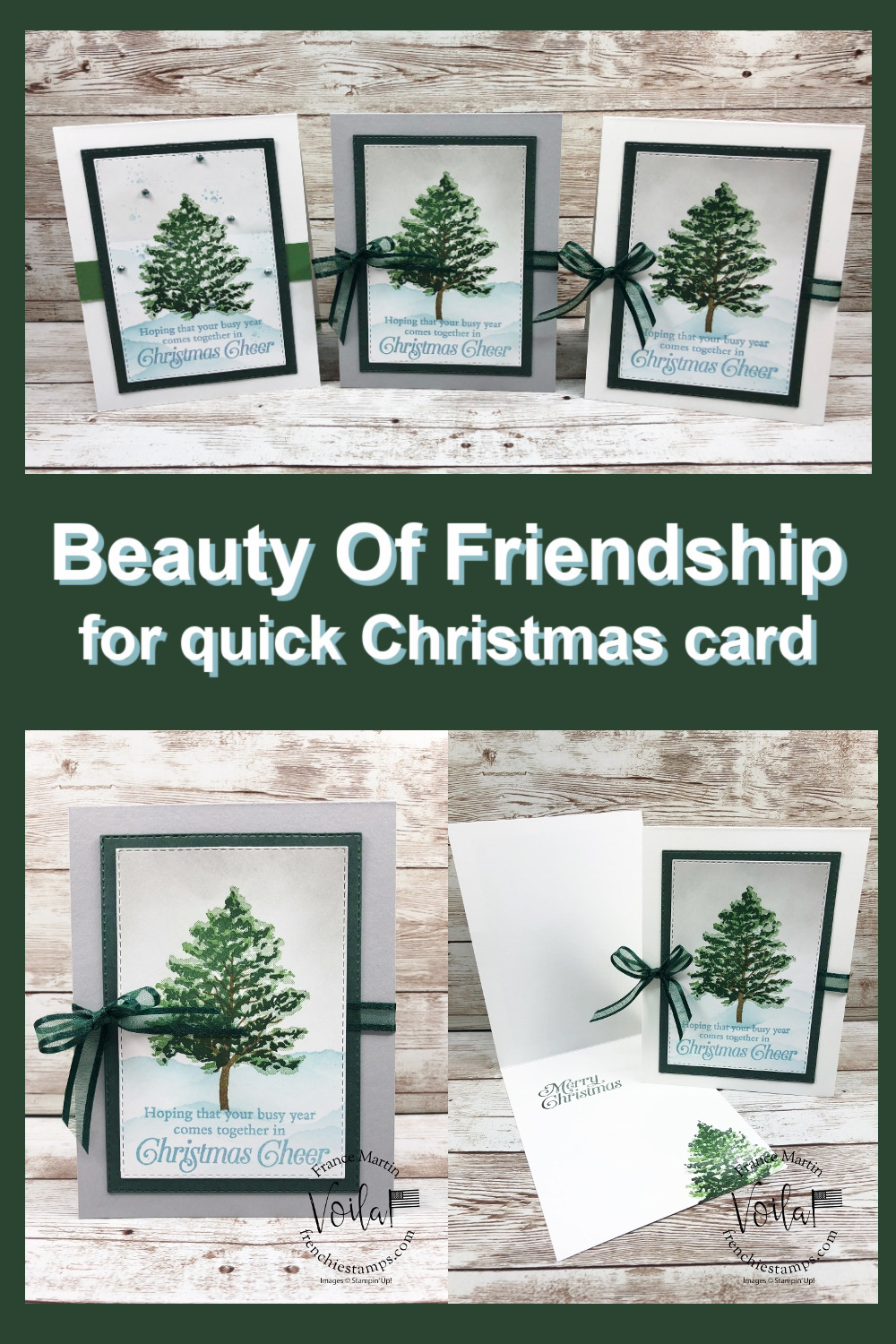 Beauty Of Friendship for Christmas Card.