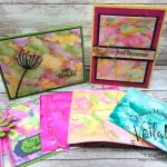 Stampin Blends on vellum for an impressive colorful background.