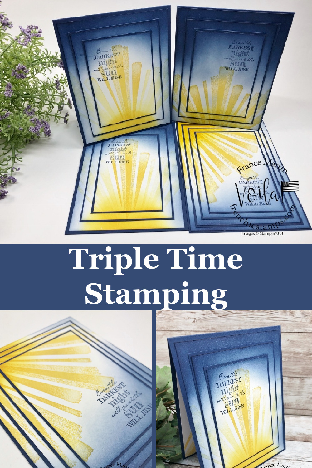 Triple Time Stamping Technique With After the Storm Stamp Set.