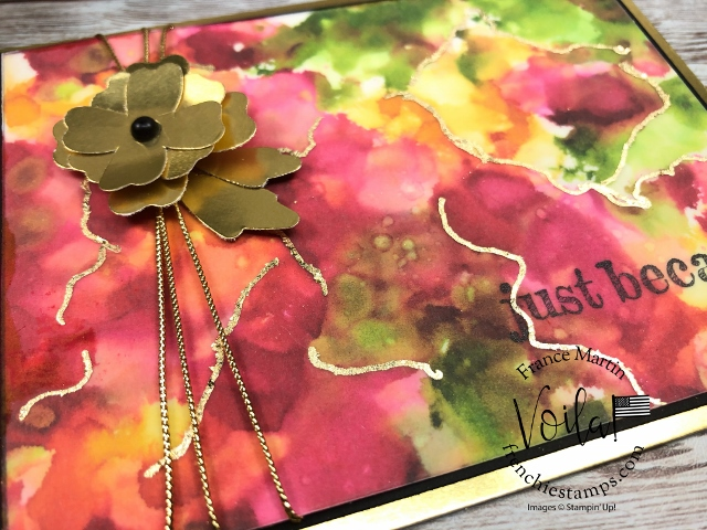 Vellum Faux Watercolor with a Splash of Gilded Leafing.