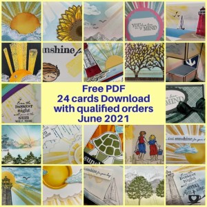 Frenchie's Customer Appreciation twenty four cards PDF download showcasing After the Storm stamp set