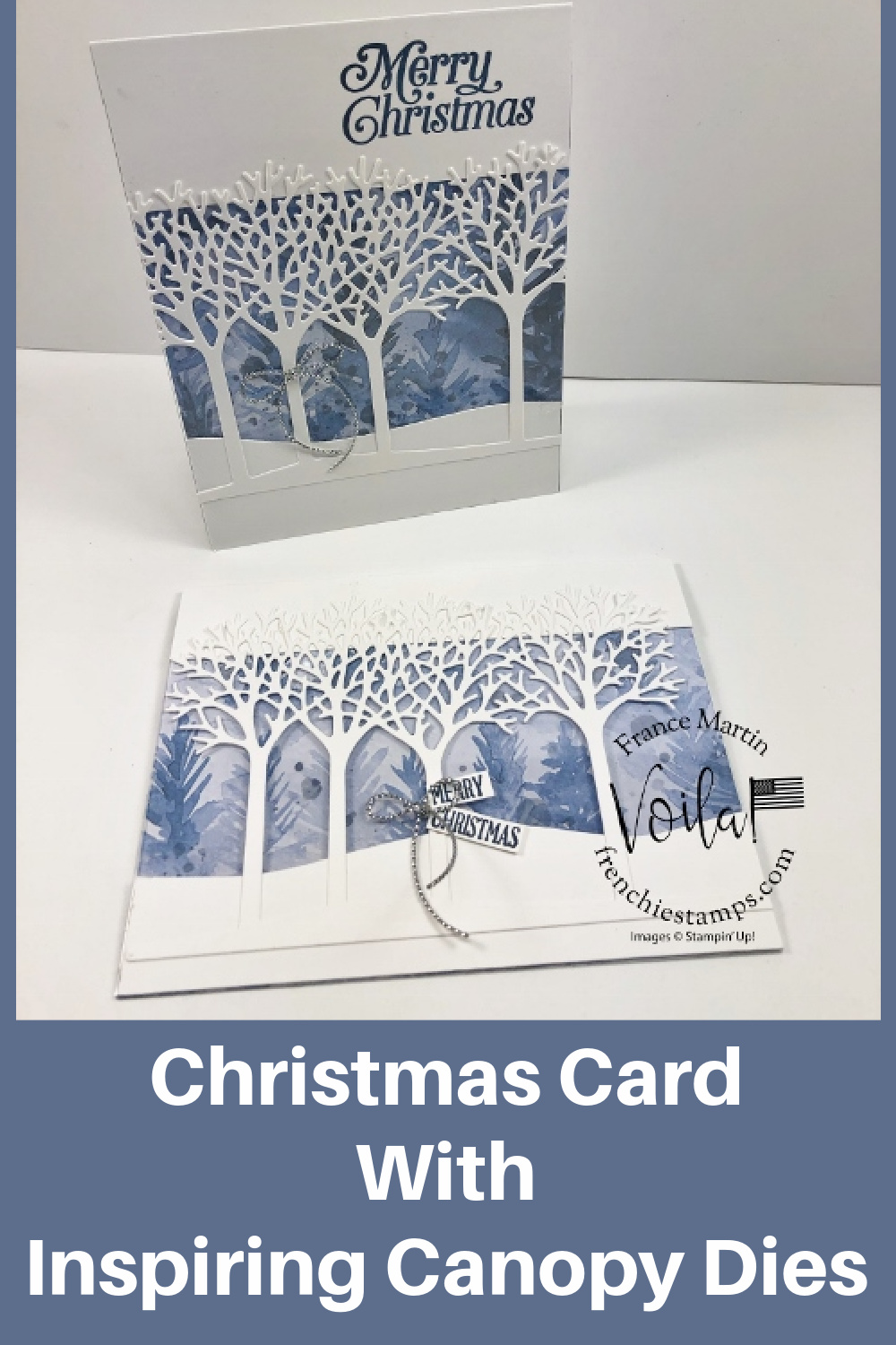 Christmas Card With Inspiring Canopy Dies