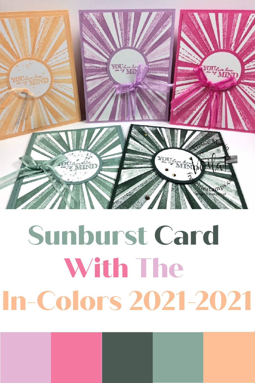 In Colors 2021-2023 Sunburst Card with After The Storm Stamp Set