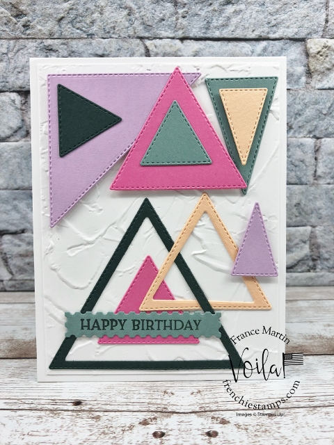 Stitched Triangles Dies with the 2021 2023 In Color