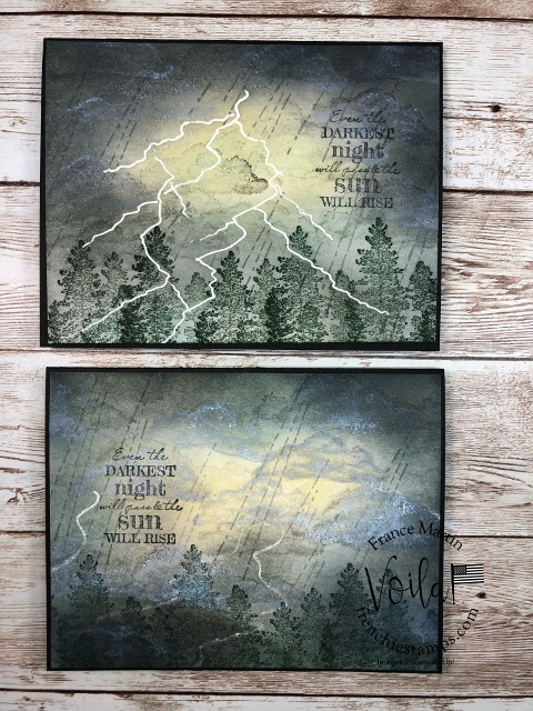 Lightning Technique for a  Thunderstorm Card with the stamp set After the Storm.