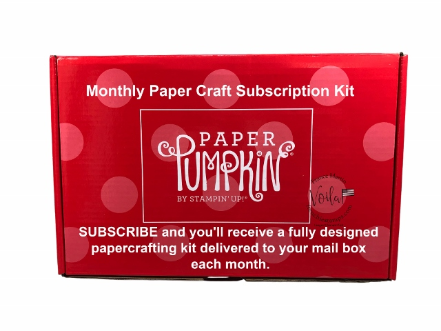 Paper Pumpkin a Monthly Paper Craft Kit subscription deliver monthly in your mail box.