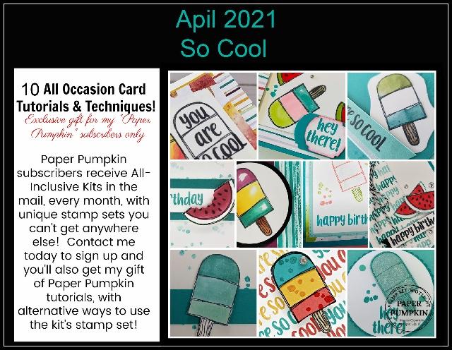 So Cool April 2021 Paper Pumpkin