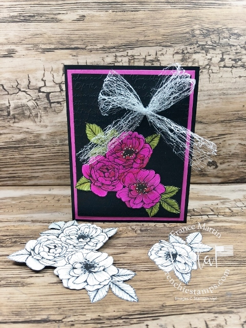 True Love Designer Paper Colored with Stampin Blends.