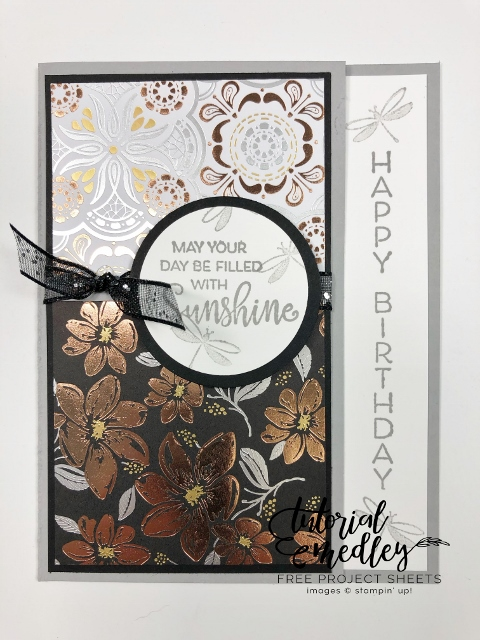 Celebrate With Flowers and Simply Elegant designer paper.