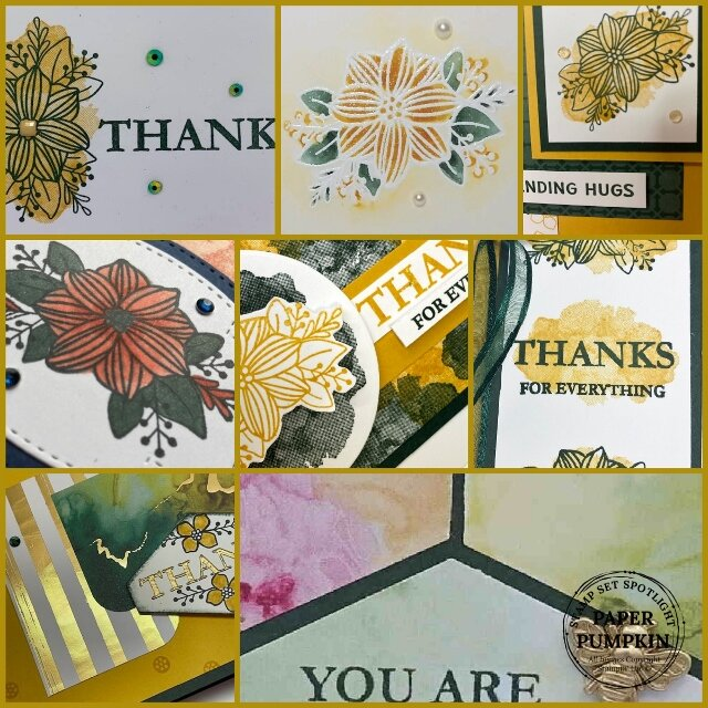Extra Inspiration with the stamp set Expressions In Color Paper Pumpkin.
