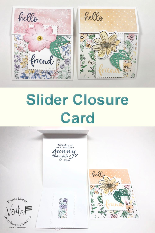 Fun Fold Slider Closure Card