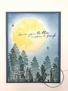 Simple card with To The Moon stamp set.