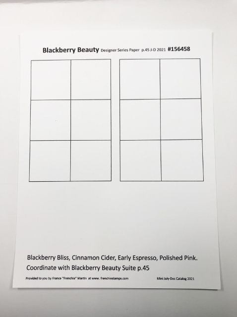 Designer Paper Chart