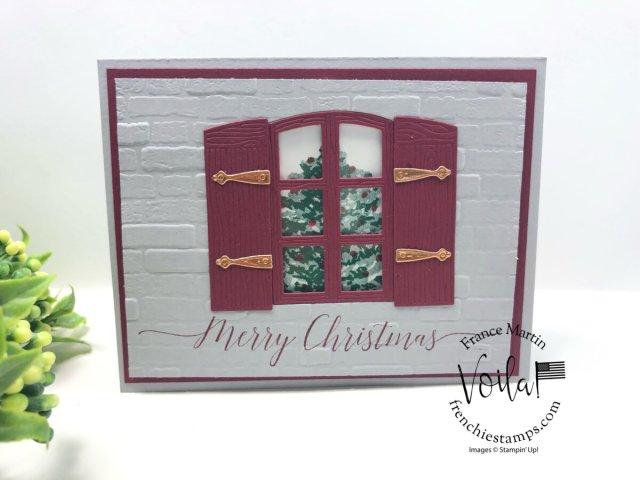 Christmas Card with Window Flower Box Dies.