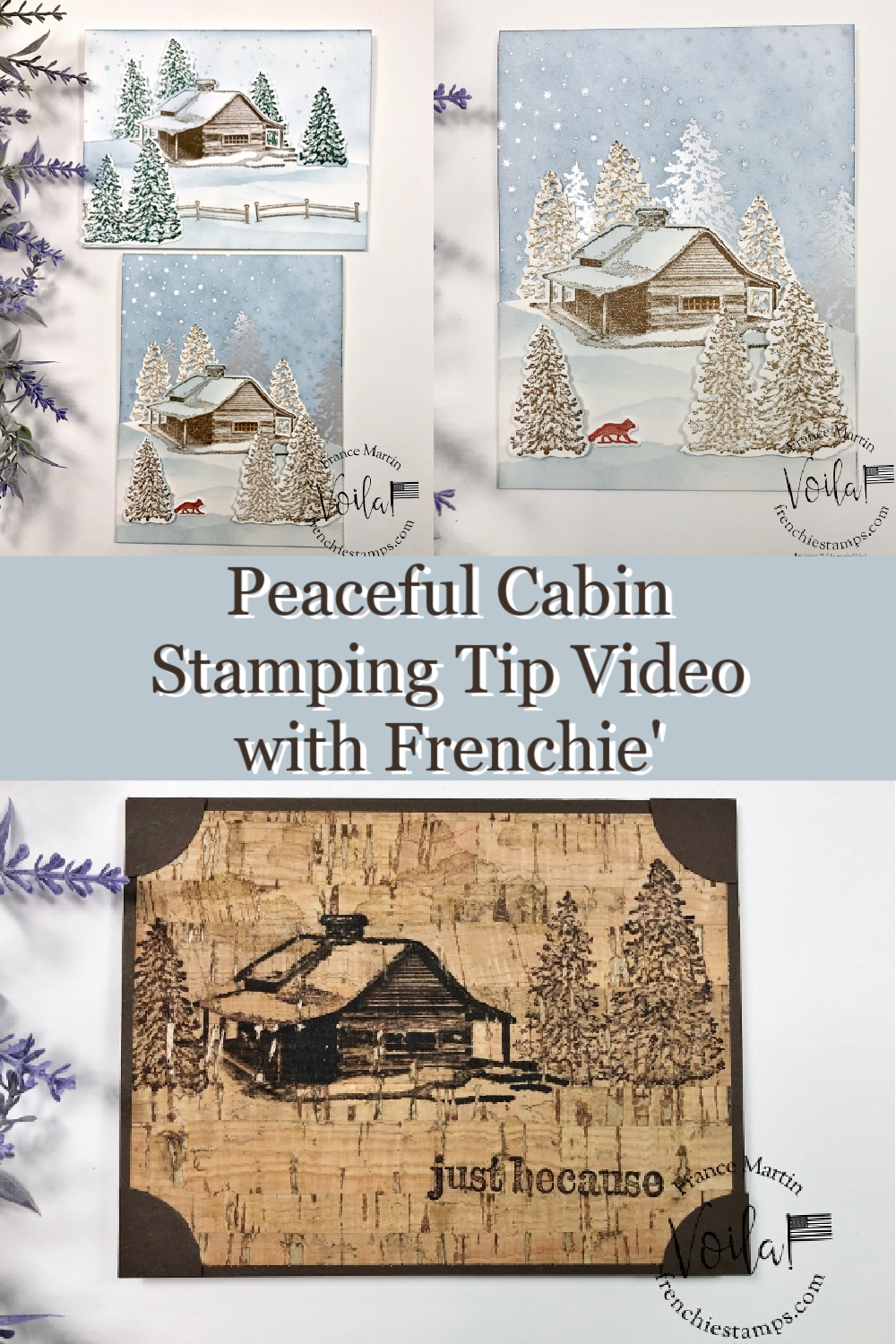 Stamping Tip For the Peaceful Cabin Bundle