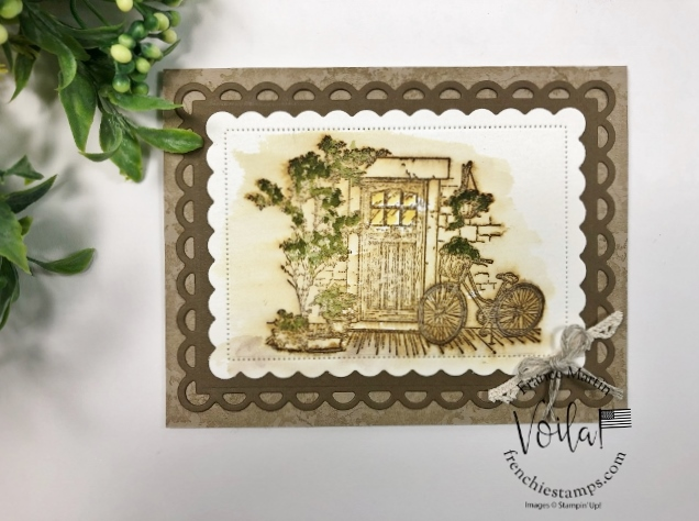 Simple Vintage Watercolor with Feels Like Home stamp set