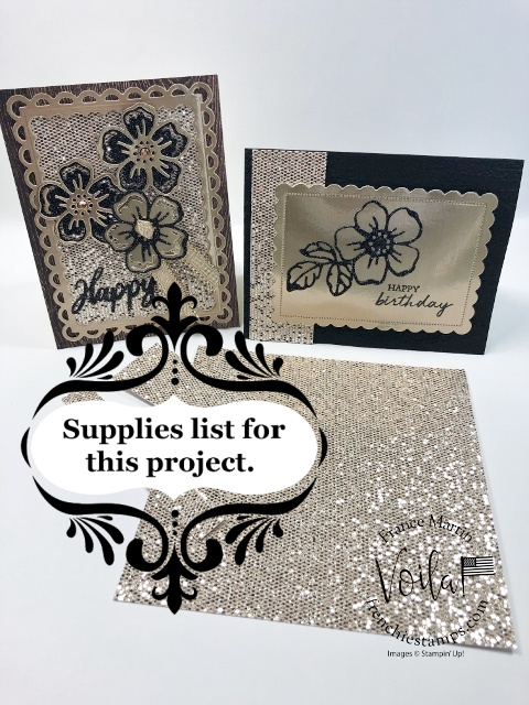 Frame Card with Summer Shadows Dies with Be Dazzling and Metallic Paper.
