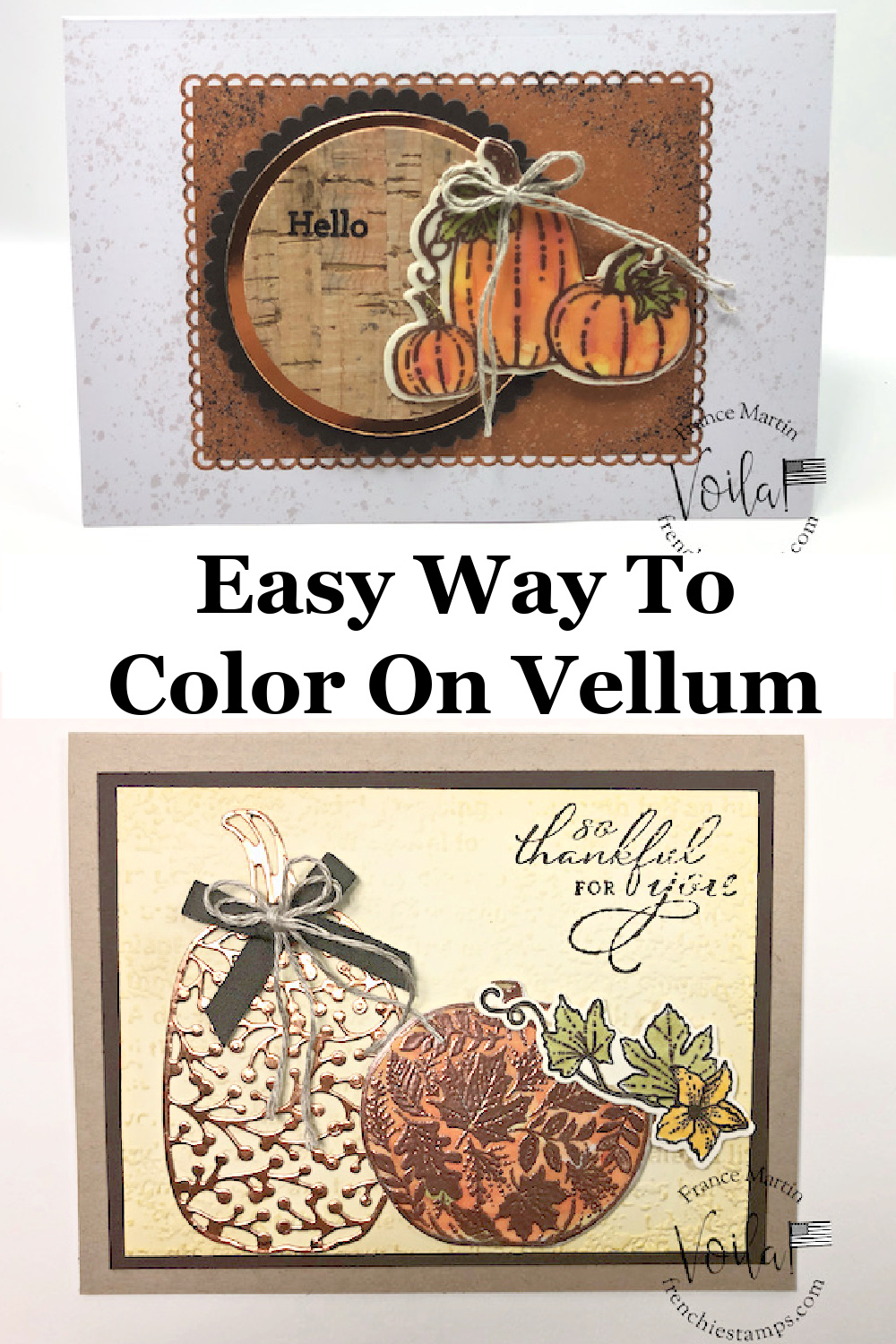 Easy way To Color On Vellum Pretty Pumpkins Set